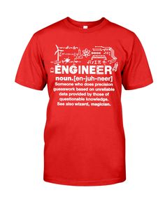 Engineer Definition Engineer Shirt, Definitions, The Magicians, Classic T Shirts, Engineering, Posters, Unisex, Mens Tops, Poster