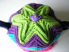 Justjen-knits&stitches: Justjen's Easy Ripple Tea Cosy