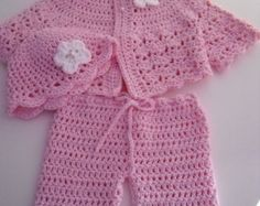Crochet baby dress Grey and White baby dress