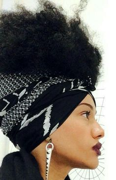 ***Try Hair Trigger Growth Elixir*** ========================= {Grow Lust Worthy Hair FASTER Naturally with Hair Trigger} ======================== Go To: www.HairTriggerr.com ========================= Definitely Feelin this Black n White Headwrap and Spike Earrings!!!