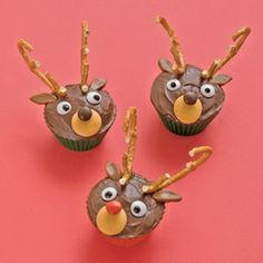 rudolph and friends reindeer cupcakes