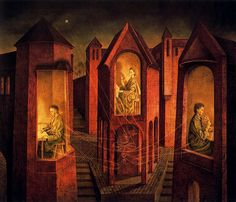 Varo, Remedios (1908-1963) - 1956 Three Destinies (Christies New York, 2001), for more, please visit: http://www.painting-in-oil.com/artworks-Rivera-Diego.html