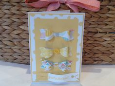 Cute card using Stampin' Up Bow Builder punch by Tracy Abrahams  http://www2.stampinup.com/ECWeb/ProductDetails.aspx?productID=137414&dbwsdemoid=5012366