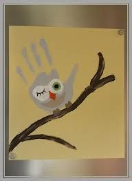 handprint pictures, olw on branch