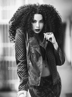 Amanda Diaz Photography Amanda Diaz, Mane Event, Dark Skin Beauty, Wilhelmina Models, Strike A Pose, Big Hair, Leather And Lace, Hair Inspiration, Portrait Photography