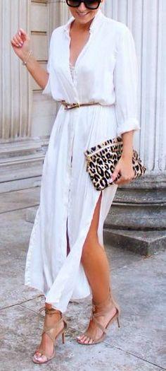 Button down front maxi dress.