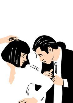 Mia Wallace and Vincent Vega: Pulp Fiction