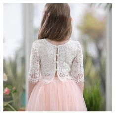 The Brittney Crop Skirt Set - flower girl dresses - Flower Girls, Blush Flower Girl Dresses, Girl Fashion, Fashion Dresses, Little Girl Dresses, Dress Patterns, Baby Dress, Designer Dresses, Ideias Fashion