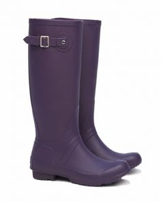 Pipduck Rubber Wellies / Gumboots Hunter Riding Purple Boot - hardtofind.