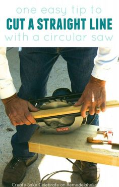 How to Cut a Straight Line with a Circular Saw - no table saw required