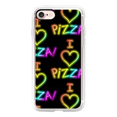 I Love Pizza Neon Sign  - iPad Cover / Case ($40) ❤ liked on Polyvore featuring accessories, tech accessories, ipad cover / case, ipad sleeve case, ipad cases, ipad cover case, apple ipad cover case and apple ipad case