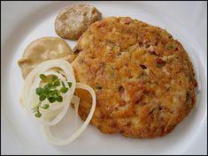 Salám nastrouháme na hrubém slzičkovém struhadle, sýr na jemných slzičkách. V míse ušleháme vejce se solí a pepřem. Promícháme se sýrem, přidáme... Baked Potato, Ham, Risotto, Macaroni And Cheese, Potatoes, Baking, Dinner, Ethnic Recipes, Dining