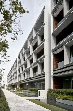 Gallery of Seletar Park Residence / SCDA Architects - 9 Tropical Architecture, Hotel Architecture, Residential Architecture, Architecture Design, Building Facade, Building Design, Facade Design, Exterior Design, Scda Architects