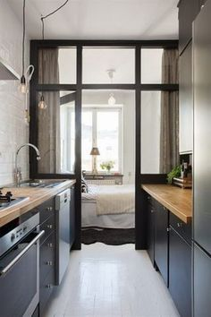 #tumbleweed #tinyhouses #tinyhome #tinyhouseplans Find inspiration for your own tiny house with small kitchen space ideas. From colorful backsplashes to innovative cabinet designs, these creative tiny house kitchen ideas will inspire your own downsizing project.
