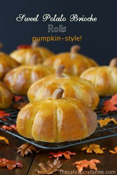 Sweet Potato Brioche Rolls - Pumpkin Style! - delicious and such a fun surprise when guests peek into the bread basket.