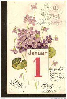 Herzlichen Gluckwunsch zum Jahreswechsel 1 Januar - M.S.i.B. Serie 330 - 1905