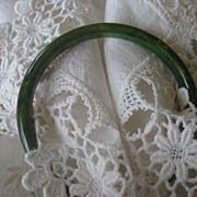 Lovely Green Marbleized Bakelite Spacer Bracelet