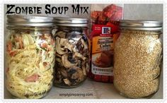 Dry Soup Mix For Emergency Preparations Zombie Soup: Homemade dry soup mix to make for a crowd (or just your family) in an emergency situation.Zombie Soup: Homemade dry soup mix to make for a crowd (or just your family) in an emergency situation. Homemade Dry Mixes, Homemade Seasonings, Dry Soup Mix, Soup Mixes, Spice Mixes, Emergency Preparation, Emergency Food, Emergency Preparedness, Survival Kit