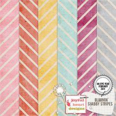 Bloomin' - Stripes :: Papers :: Memory Scraps