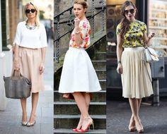 looks para quem usa saia, mulheres com saia, mulheres que usam saias, saia, saias, como usar, como usar saia,