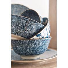 Pomax Maiko Bord 21,5 cm - Blauw