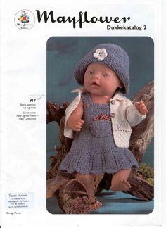 Albumarkiv Diy Doll Pattern, Knitted Doll Patterns, Knitted Dolls, Baby Patterns, Knitting Dolls Clothes, Baby Hats Knitting, Doll Clothes Patterns, Girl Dolls, Baby Dolls