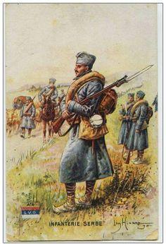 Srpska pesadija - Serbian infantry WWI