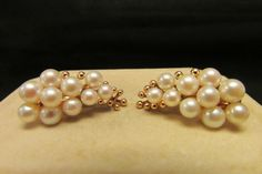 Estate Beautiful Unmarked Ming's of Honolulu pearl earrings by Alohamemorabilia