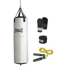 Everlast® 81-lb. Platinum Heavy Bag Kit (Incl. Gloves, Handwraps, Hanger, Jump Rope)