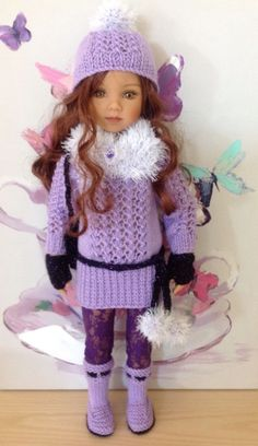 DIANNA EFFNER MARU & FRIENDS HAND KNITTED OUTFIT FOR 20 TALL DOLL