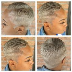 """""""#HairByUno ...Can your hairstylist color your hair Metallic Silver??? If not…"""