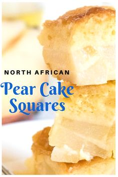 This super simple yet super moist and decadent pear cake is the best thing for any gathering! Brownie Recipes, Cookie Recipes, Dessert Recipes, Easy Desserts, Delicious Desserts, Yummy Food, Pear Recipes, Baking Recipes, Sugar Cookies Recipe