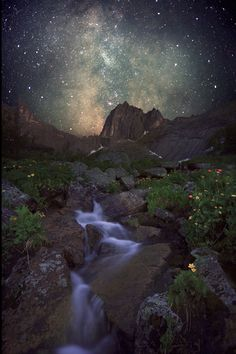 """expressions-of-nature: """"Mountain spirits and the Milky Way by: Horimono"""""""