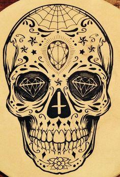 tatouage tete-de-mort mexicaine crâne en sucre