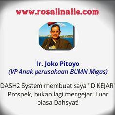 Testimoni DASH2 - RosalinaLie.com - Ir. Joko Pitoyo