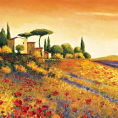 I plan to paint a Tuscan scene and need inspiration...