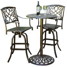 Find Best Selling Home Cast Aluminum Brown Outdoor Bistro Bar Set online. Shop the latest collection of Best Selling Home Cast Aluminum Brown Outdoor Bistro Bar Set from the popular stores - all in one Patio Furniture Sets, Outdoor Furniture, Outdoor Decor, Outdoor Spaces, Furniture Ideas, Furniture Design, Outdoor Ideas, Garden Furniture, Bar Table Sets