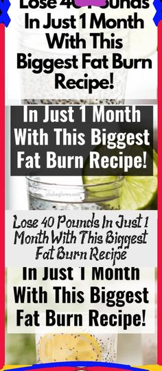 Lose 40 Pounds In Just 1 Month With This Biggest Fat Burn Recipe!