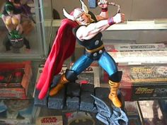 """THOR 8"""" Resin Statue By Diamond Select Toys by Marvel & Diamond Select. $284.95. 8"""" resin statue limited to 3000 pieces worldwide. Hand painted and ready for display.. The Mighty Thor 8"""" Resin Statue sculpted by Shawn Nagle. Made in 2002 by Marvel Comics and Diamond Select Toys. Comes with a certificate of authenticity. Limited edition if 3000 pieces worldwide. Painted and ready for display."""