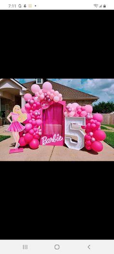 Barbie Party Decorations, Barbie Theme Party, Barbie Birthday Party, 5th Birthday Party Ideas, Balloon Decorations, Birthday Decorations, Party Themes, Birthday Parties, Splash Party
