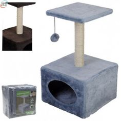 Cat Scratcher In Grey or Brown Cat Scratching Pole Cat Gym Centre (Grey) *** You can find out more details at the link of the image. (This is an affiliate link)