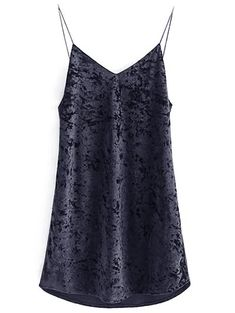 SHARE & Get it FREE | Crushed Velvet Cami DressFor Fashion Lovers only:80,000+ Items • New Arrivals Daily Join Zaful: Get YOUR $50 NOW!