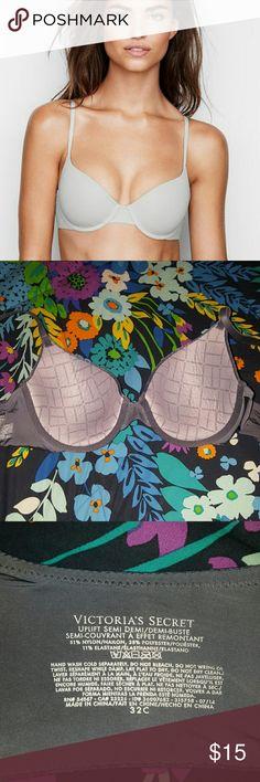 vs navy t shirt bra lightly lined bra , perfect condition , lightly worn , marled navy / gray color , smoke free home , no returns Victoria's Secret Intimates & Sleepwear Bras