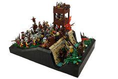 Siege of Alesia, September 52 BC by Macsen Wledig All Lego, Lego Castle, Cool Lego Creations, Lego Moc, Lego Brick, Lego Sets, Legos, Kids Playing, Battle