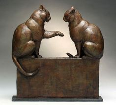 Dan Ostermiller - Barnyard Gossips - 27 x 8 x 27 Bronze, Edition 20 - $9,300