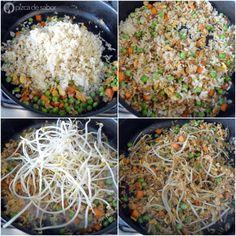 Cómo hacer arroz frito (arroz integral) www.pizcadesabor.com