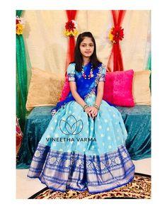 Half Saree Lehenga, Kids Lehenga, Lehenga Skirt, Long Skirt Top Designs, Long Dress Design, Half Saree Designs, Lehenga Designs, Salwar Designs, Dress Indian Style
