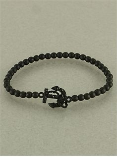 Black Sail Away Crystal Bracelet from P.S. I Love You More. Shop online at: psiloveyoumore.storenvy.com