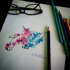 Cat watercolour sketch