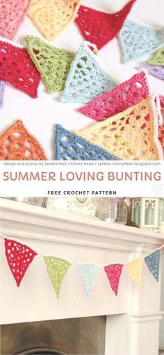 Crochet Flower Bunting, Crochet Bunting Free Pattern, Crochet Garland, Free Crochet, Crochet Patterns, Crochet Ideas, Crochet Appliques, Crochet Ornaments, Crochet Craft Fair